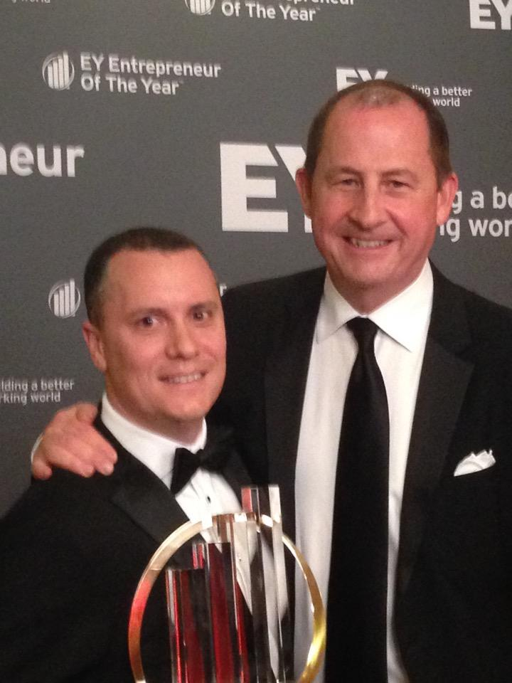 Congrats to @todsacerdoti CEO of @BrightRoll winner of EY entrepreneur of the Year 2014. #SGFUS http://t.co/4oNhFCtdMo