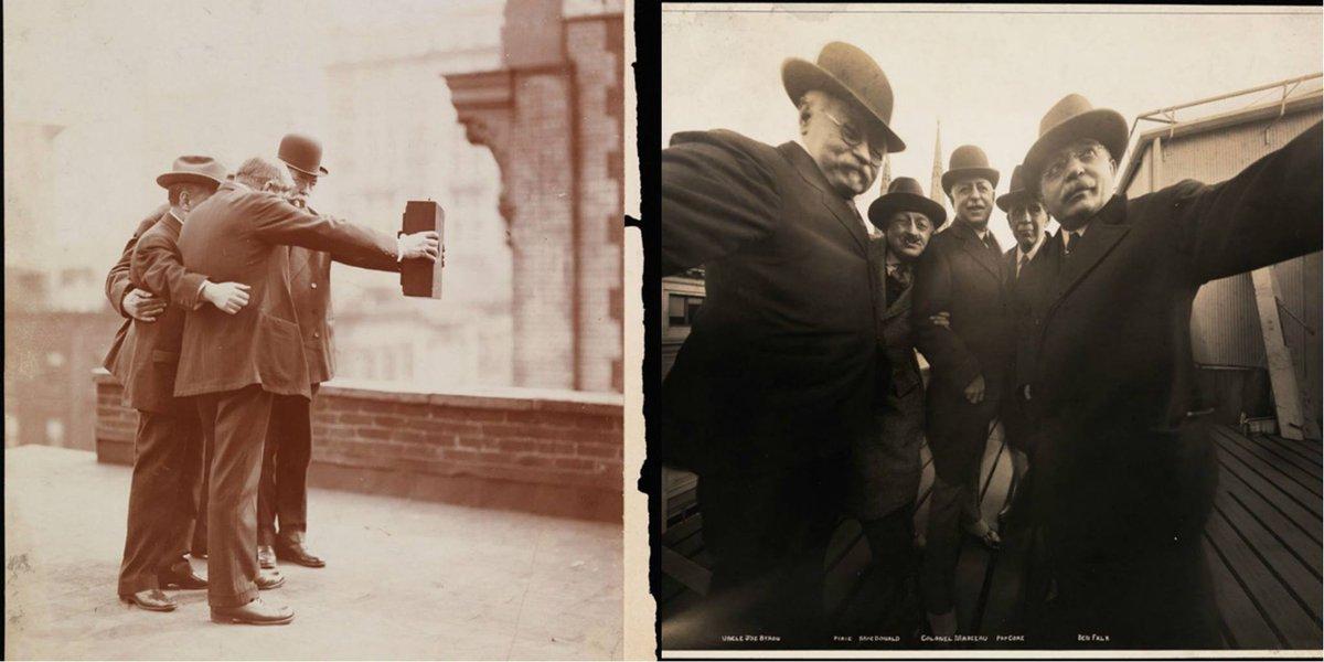 """@sbadsgood: Selfies circa 1920s http://t.co/2Tlonpfxu3"" @DaveGorman"