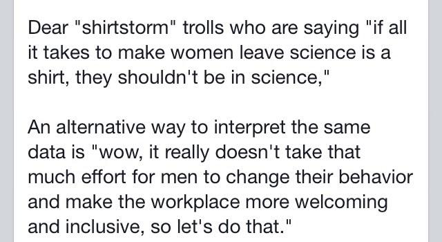 Another thought re: #Shirtstorm #ShirtGate from my Facebook page https://t.co/vSHfuYt0Yy http://t.co/iDnwtO7hfQ