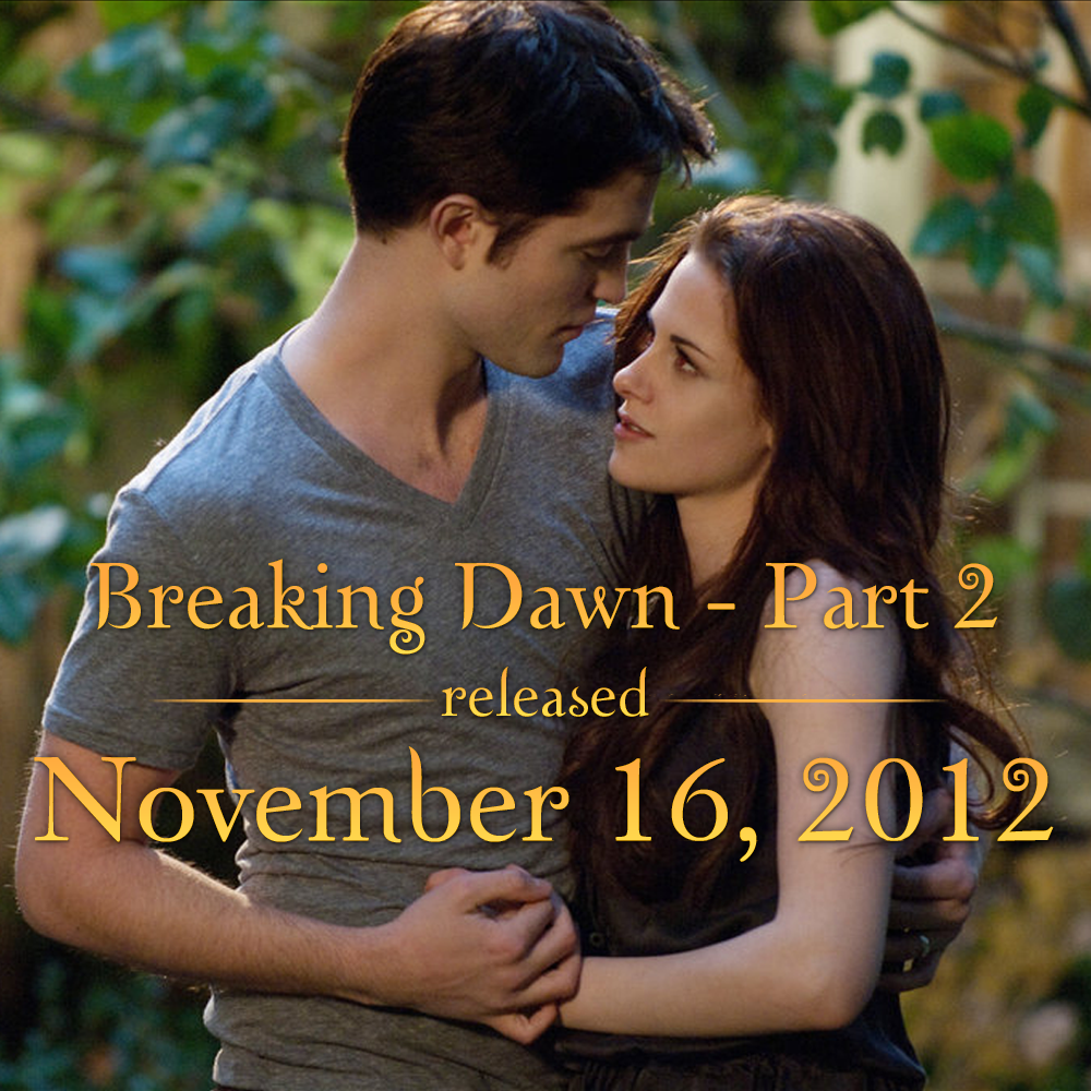 It's been two years since #BreakingDawnPart2! Who did you see it with? http://t.co/2dx5Ko2z5Y