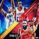 Catch Sunday evening hoops on @NBATV as the @HoustonRockets visit the @OKCThunder at 7pm/et!