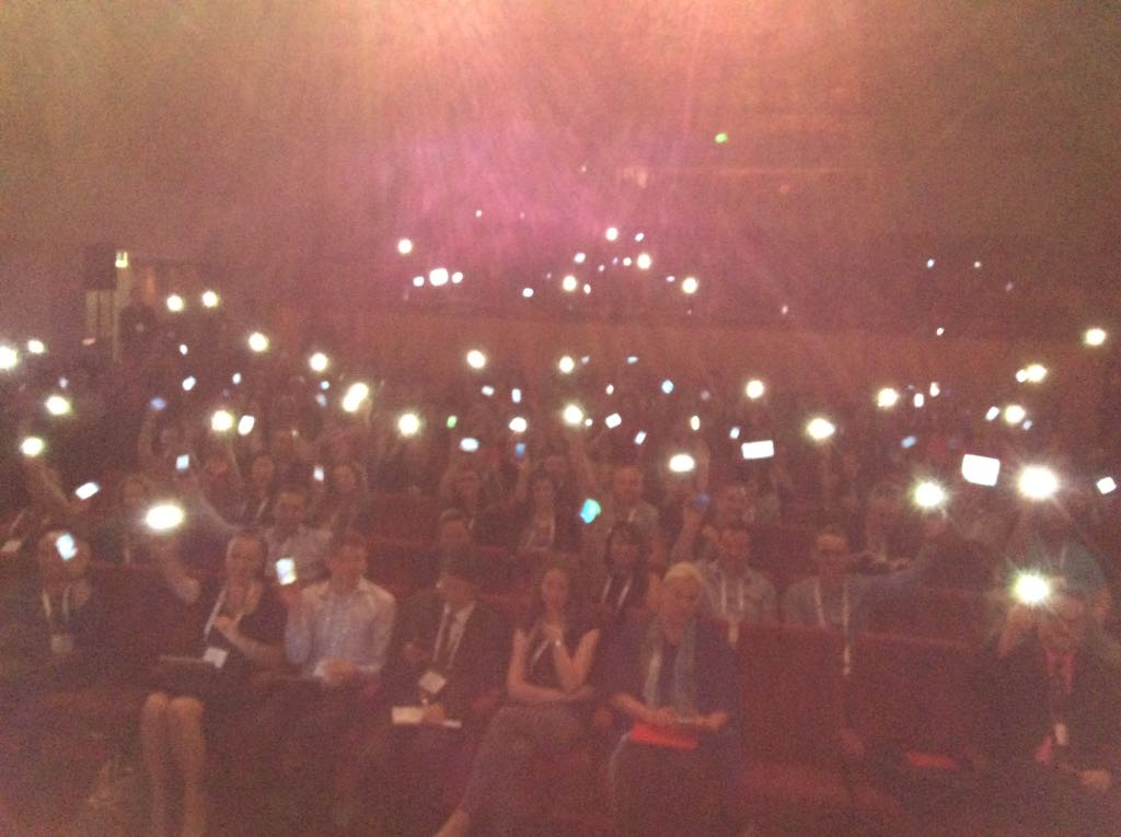 The great audience at #hrtf14 - remember lighters? http://t.co/P8HaodDNFD