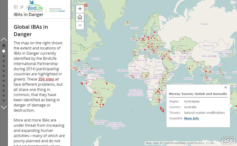 BirdLife Int'l uses new @Esri #StoryMap platform to tell conservation stories http://t.co/TEWgesOfSE @BirdLife_News http://t.co/WJobs4wh1i