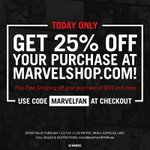 RT @Marvel: Our first gift to you, #Marvel fans: 25% off at http://t.co/dgewJRiisz, today only! Use code MARVELFAN at checkout.