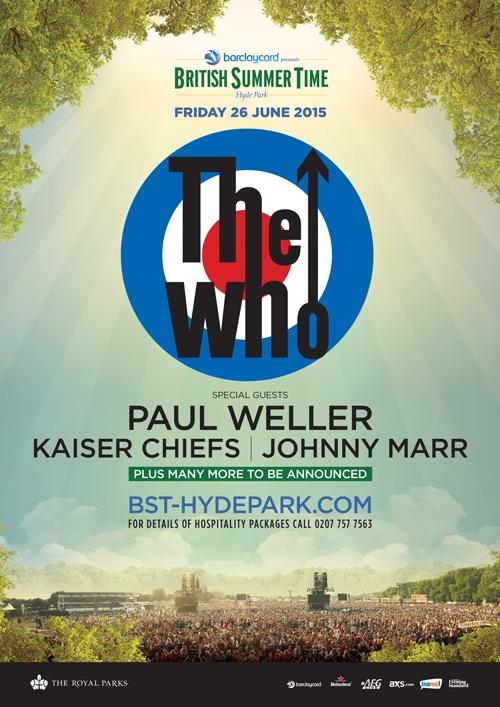 What a line-up! Looks like another #London trip is on the agenda. @TheWho @paulwellerHQ @KaiserChiefs @Johnny_Marr http://t.co/hJ79JMzfCX