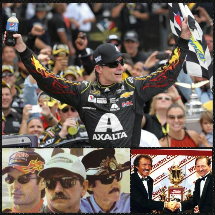 Stat: 7th time Jeff Gordon had most points in full #NASCAR season. Prev accomplished by Petty& Earnhardt http://t.co/O7RqIN4Wpn