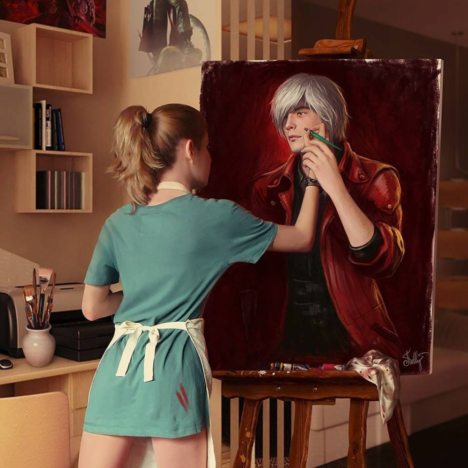 We heard you like painting, so we hired a painter to paint a painter painting a paint. http://t.co/uBudGWTwr3
