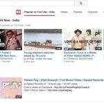 RT @OneDigitalEnt: The most popular music video at @YouTubeIndia http://t.co/YU3n6dXwr1 @diljitdosanjh @Speed_Records @gurpreetsbhasin