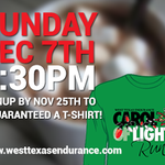 Carol Of Lights Run #Lubbock - Dec 7 - SIGNUP BY NOV 25TH for the t-shirt! Signup here: http://t.co/TBeHcUy3p3 http://t.co/ebZ6Wga4Zf