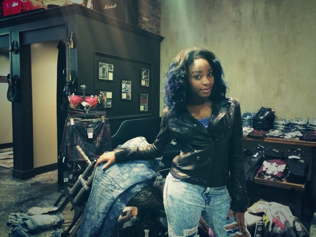 @NormaniKordei Looking good in that new jacket!  #AfflictionSealBeach http://t.co/MTdXvTJw8X http://t.co/kuBf05Hhmo