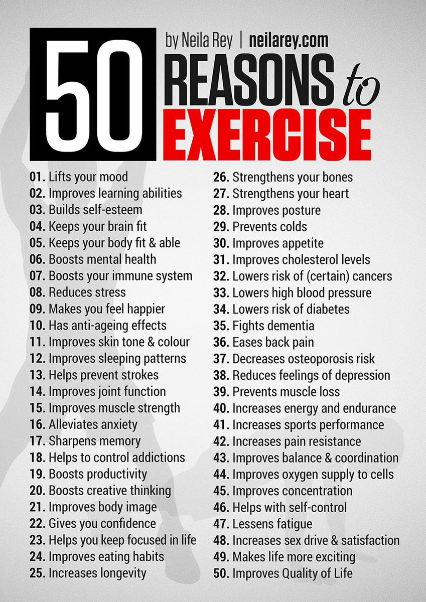 What other reasons can you think of? #fitness #exercise http://t.co/MxFUsWsLiH