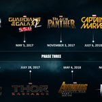 RT @Marvel: Apparently, the Inhumans' calendar's a few days off from ours...here's the right version of the Phase 3 MCU timeline!