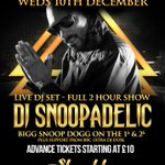 Catch me #DJSNOOPADELIC live at Shooshh, Brighton from 10pm-12am on 10 Dec s/o to @iforphin http://t.co/w5c0dd3BlV