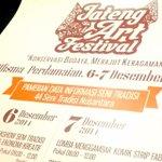 Jateng Art Festival | 6-7 Desember 2014 | @ Wisma Perdamaian Semarang | Info @jateng_artfest #eventSMG http://t.co/3mKLp2jMPP