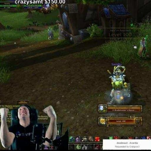 Swifty (@SwiftyiRL): Level 100! We did it! #wow # the struggle #teamnvidia #ad http://t.co/hU7tgAE53T