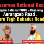 I support renaming of Aurangzeb Road in #Delhi as Guru Tegh Bahadur Road . RT if you support --> http://t.co/bh2Gmcc5Hn