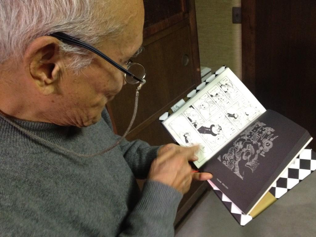 【ナナロク速報】谷川俊太郎さん『史群アル仙作品集  今日の漫画』を絶賛! 「この人は愛の本質を捉えている」。アル仙先生の漫画と絵におしみない賛辞をいただきました!やったー!! http://t.co/F3z7kWDu6p