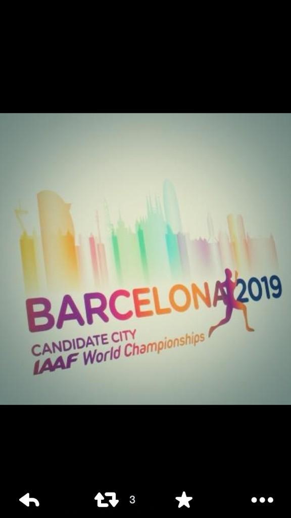 En nada sabremos si barcelona podrá celebrar el campeonato del mundo de atletismo 2019.. Cruze nos dedos.. OJALA http://t.co/bVP6kY8dlH
