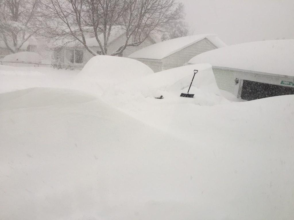 more #buffalosnow RT @uhohhshuhnan My car is somewhere in this picture. Can you find it? Guess I'm not going to work http://t.co/zwQIMzQSw1