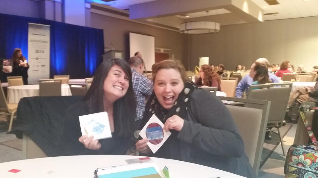 RT @librarian616: #TRETC2014 @KerrsClass and I are both big winners today. Thanks http://t.co/R6M2hVmiHE
