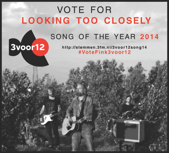 Looking Too Closely nominated Song Of The Year @3voor12- if you think it should win, pls vote! http://t.co/i2Qt4CfNMH http://t.co/QXld7OtHZt