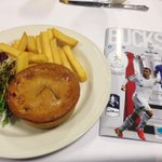 To continue the food theme, bostin pie upstairs too! ????⚽️ @telfordutd http://t.co/sEfvRoAeDP