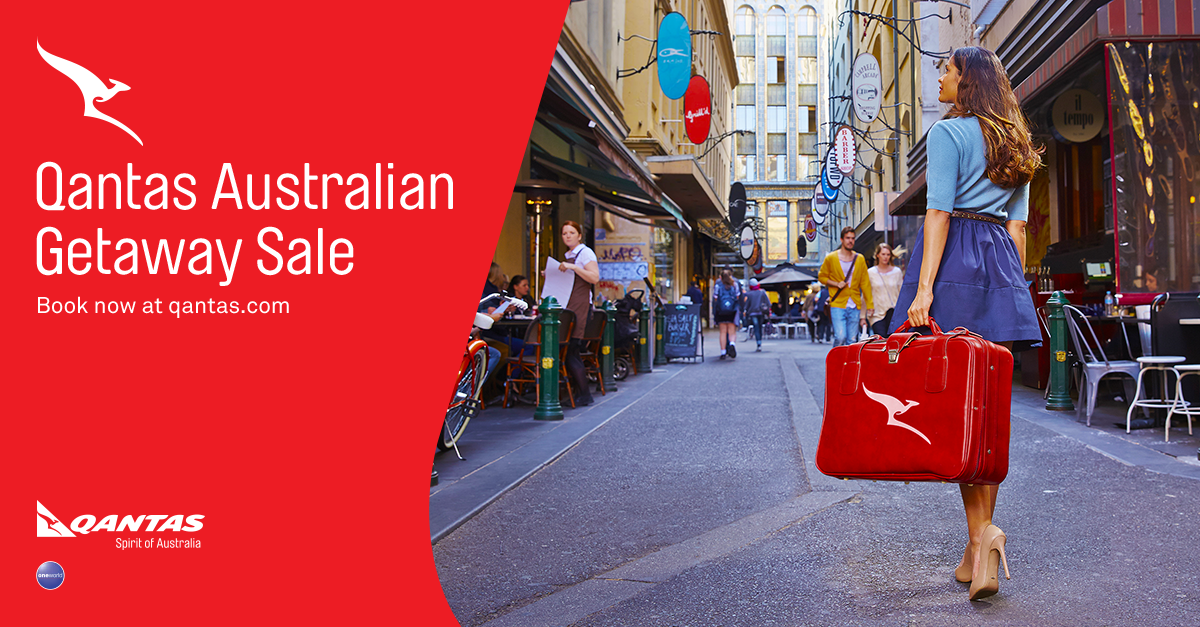 Qantas Australian Getaway Sale is on! Ends 24 November 2014. Australia's waiting, book now: