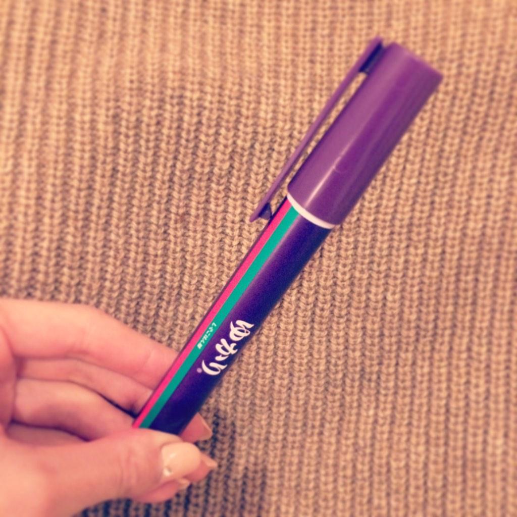 広島でゲットしてきたペン型ふりかけ「ゆかりペンスタイル (http://t.co/lae6cBzqgt)」好きだなぁ、こういう忍者的アイテム。#ゆかり http://t.co/XOBp2A9BOa