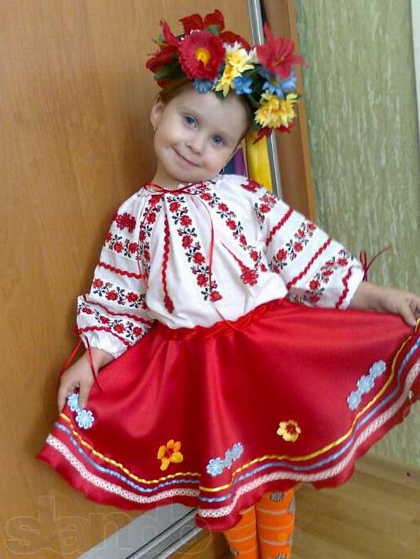 Украинские костюмы для девочки своими руками