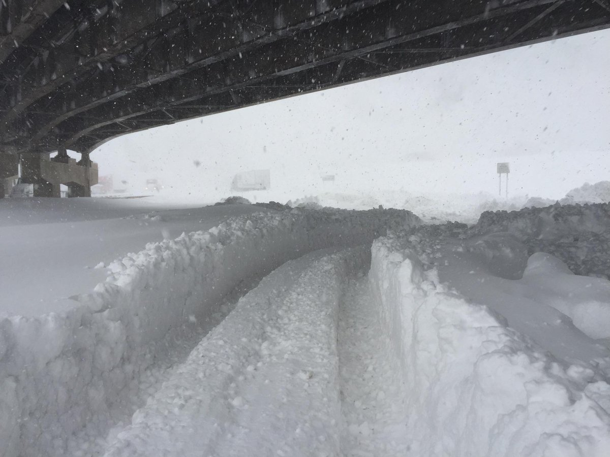 "Hang in there, WNY! ""@NYGovCuomo: Photo: Lake effect storm near Buffalo closes part of @NYSThruway8790 http://t.co/L7TFw9v9lp"""