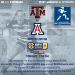 NCAA Round 2 tonight at 7:00 vs @ArizonaWSoccer. Watch live here on @SECNetwork Plus: http://t.co/d8LSgTM6hR #12thMan http://t.co/ZjhK85vVdz