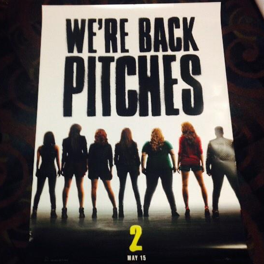 """@PitchPerfectFan: WE'RE BACK PITCHES http://t.co/iqdF1itYA9"". The Pitch is back! In 6 months."
