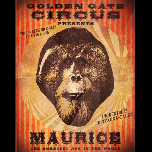 """This early circus poster advertising maurice as """"the ..."""