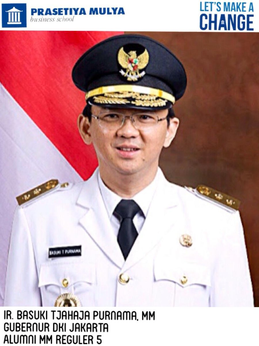 Prasetiya Mulya mengucapkan selamat atas dilantiknya @basuki_btp (Alumni @prasmul MMR 5) sbg Gubernur DKI Jakarta. http://t.co/lwsBTagS7T