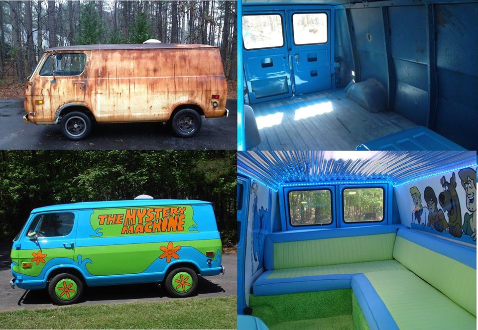 An old rusty van turned into the Mystery Machine: http://t.co/gr9B5sxfTX
