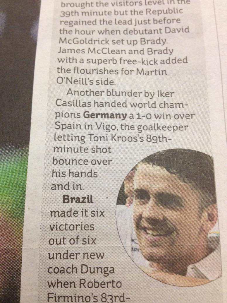 Poor old Iker Casillas can't catch a break - blamed for goals when he's not even on the pitch (in today's Indy) http://t.co/4jBvKRnFdy