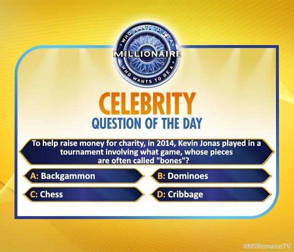 Show you know @KevinJonas #JonasBrothers! Watch today #MillionaireTV @terrycrews #FinalAnswer http://t.co/ap7IgChLcs http://t.co/8PjeoKtif8
