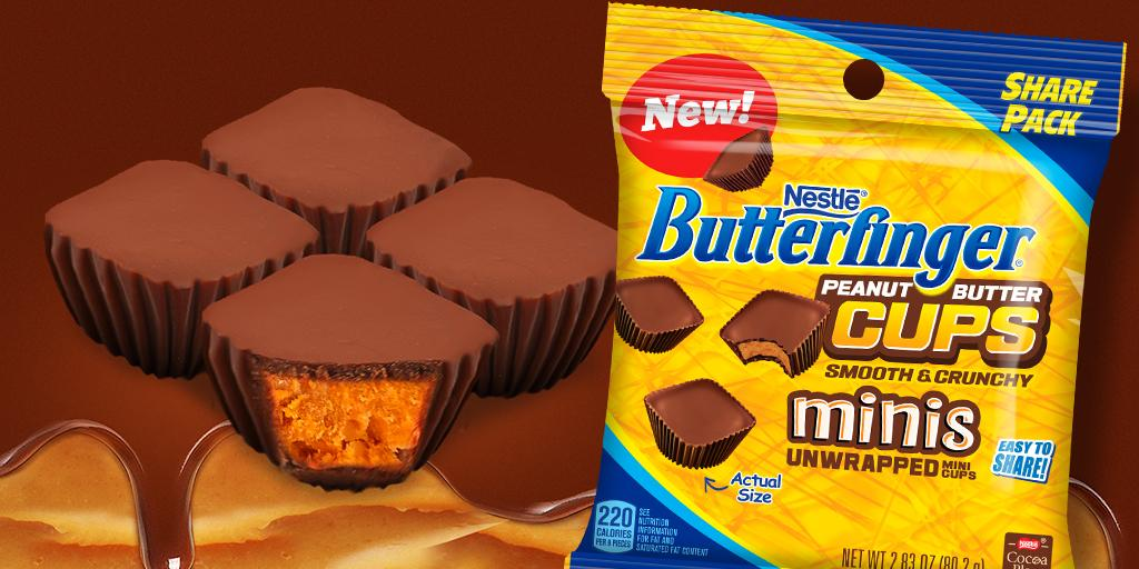 Something small is here! Welcome Butterfinger Cups Minis to the fam! http://t.co/tp83LxmMRx