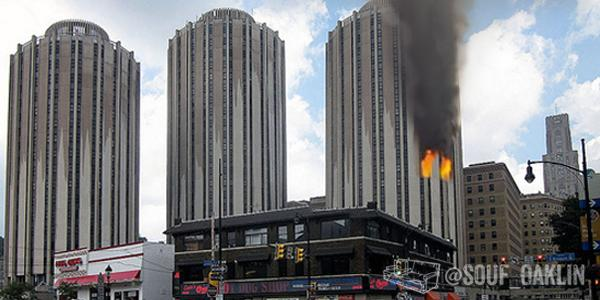 Tower A residents evacuated after someone handed the 8th Floor the aux cord. http://t.co/T0IjEGx1lv