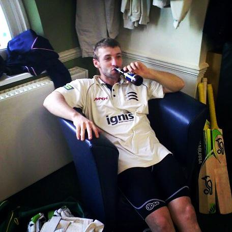 I took this after The Hugh Dogs first ton at Lords #haveabeerson #RIPPhilHughes http://t.co/BpX0w79kpw