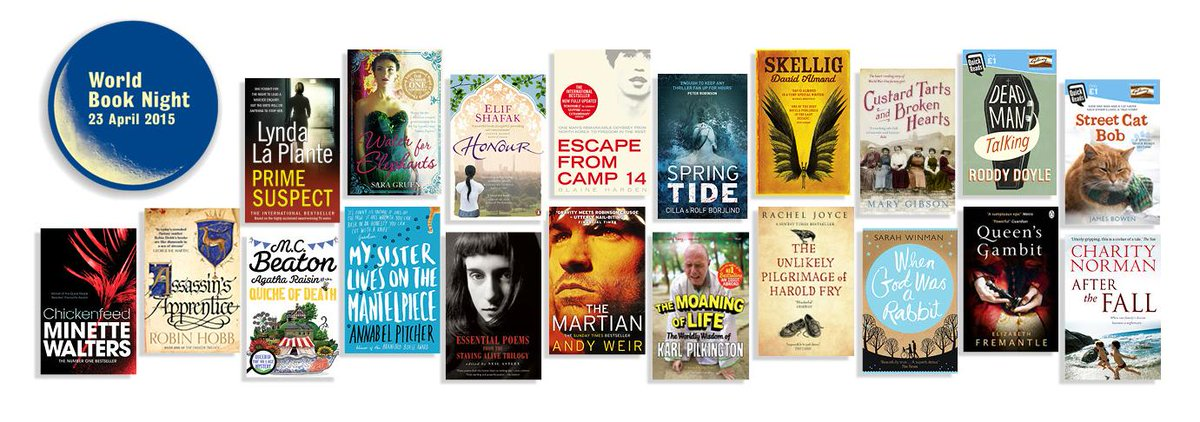 Announcing: our list of 20 books for #WorldBookNight 2015! Apply now to become a volunteer http://t.co/tEBb06zsH4 http://t.co/IjgTy6KIIU