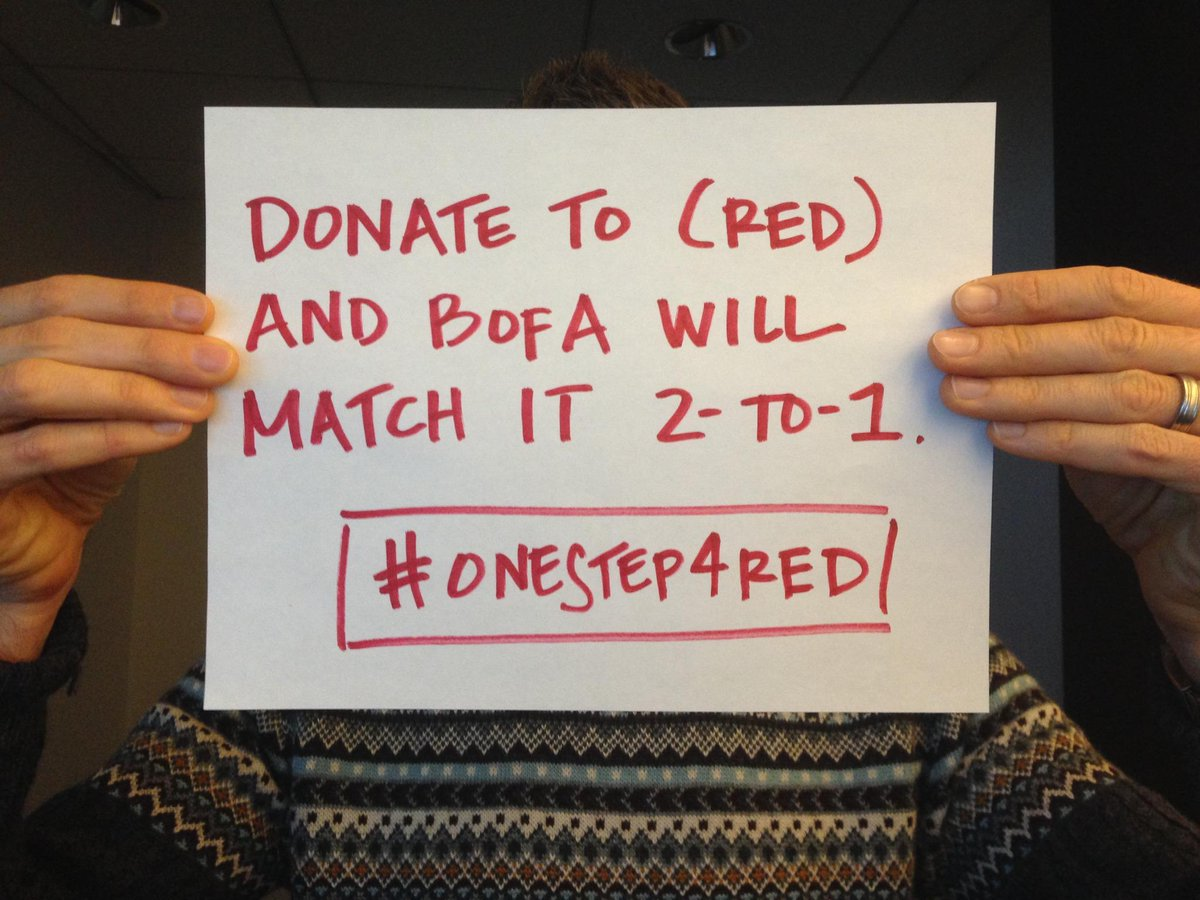 Taking a #GivingTuesday #unselfie? Donate to (RED) today and we'll match your donation 2-to-1. http://t.co/pbjzvFlCAj http://t.co/SJEdFcCcwC