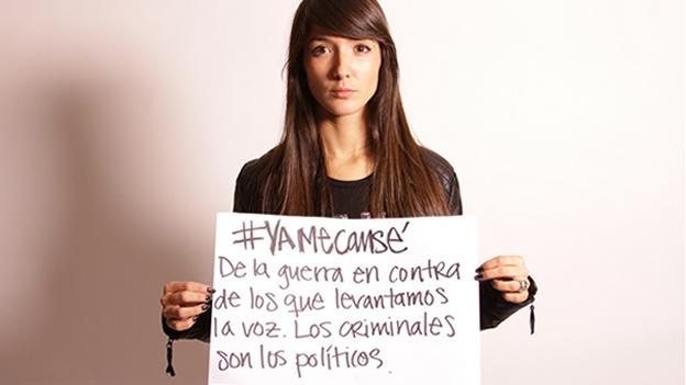 Artistas mexicanos dicen #YaMeCansé y piden justicia  http://t.co/RujZLTYx3J http://t.co/m6M8slvZhl