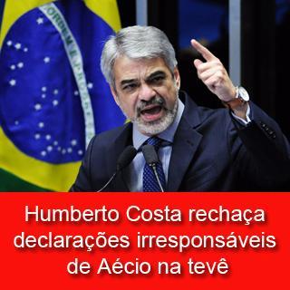 Senador Humberto Costa (PT-PE) rechaça declarações irresponsáveis de Aécio na TV http://t.co/2x1CMDkzG1 @ptnacional http://t.co/WjBXlB40EM