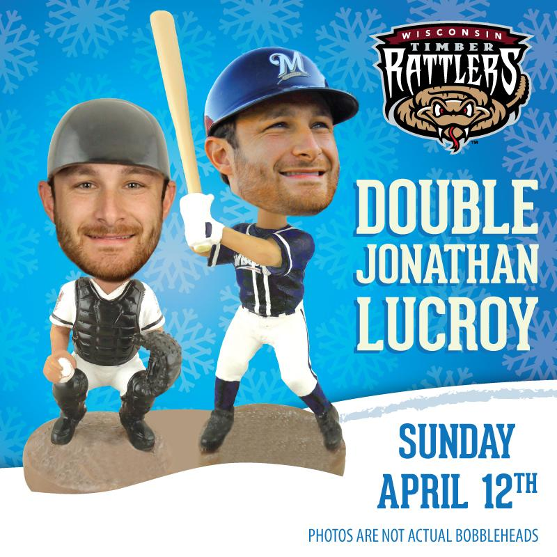 Bobblehead #1 - JONATHAN LUCROY - Opening Day 4/12 RT this post for a chance to win tickets to the April 12th game! http://t.co/qSi48BlrNA