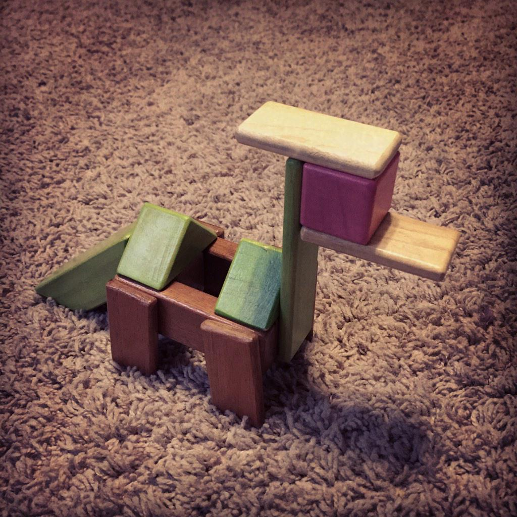 #TeguElf look a dinosaur with @Tegu magnetic wood blocks. Great Christmas gift. http://t.co/LX4Y5fMXzZ