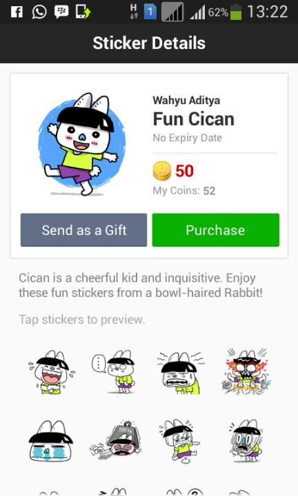 Woooo ada stiker fun cicann buatan @maswaditya di LINE.... #langsungbeli http://t.co/4GGnizK8x5