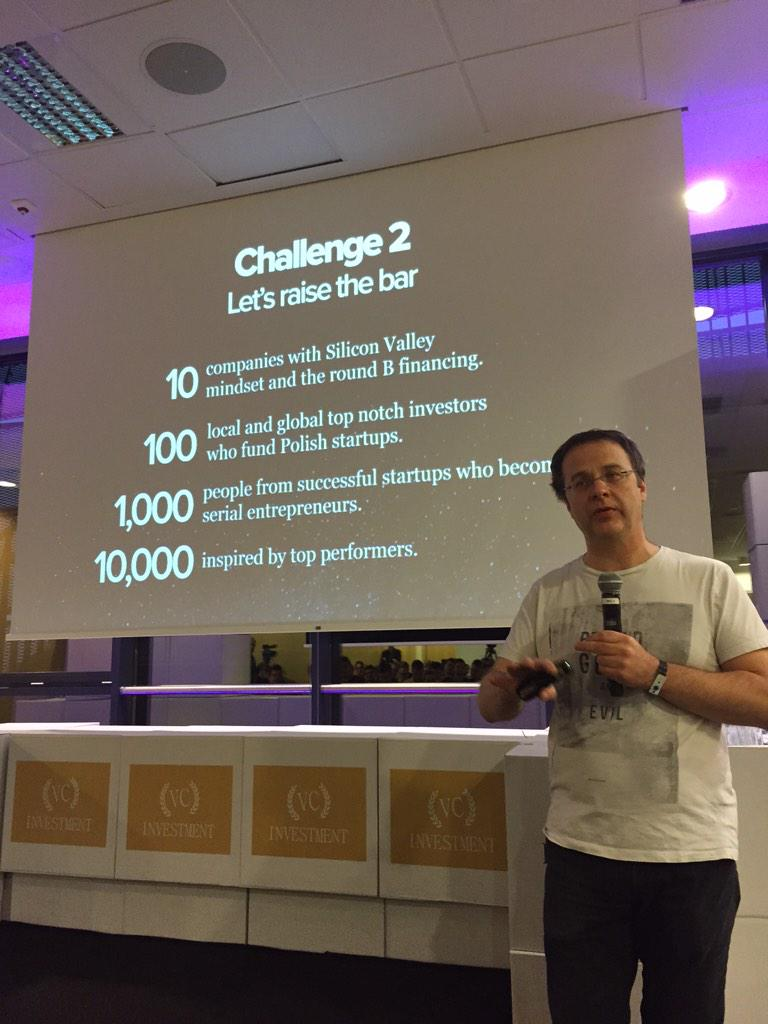 The Polish startup challenge as seen by @piotrwilam #ICTSummitPl http://t.co/TDVWaqhP3Q