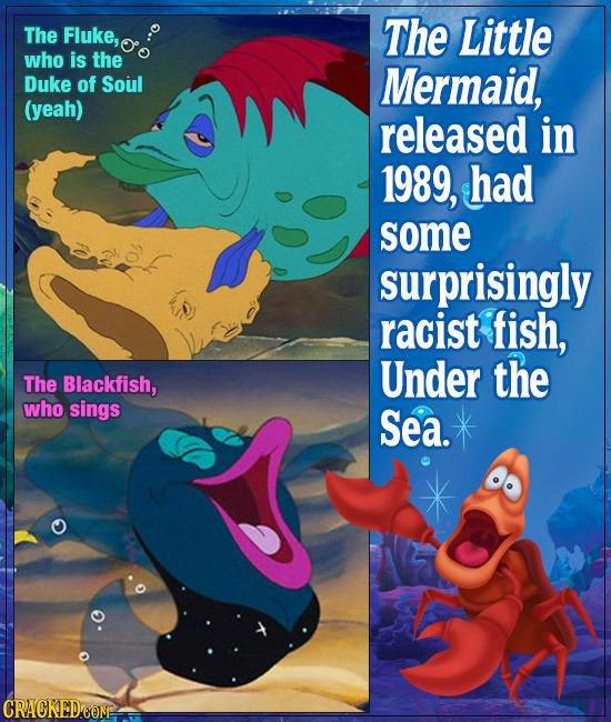 The little mermaid 39 s racist fish and 21 more disturbing for The little mermaid fish