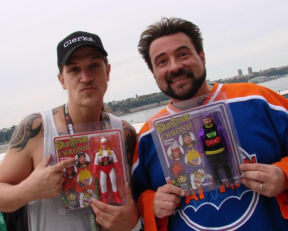 Share this photo of @JayMewes and @ThatKevinSmith and be entered to win a set of Bluntman + Chronic Retro figures! http://t.co/bWYGkIstVq